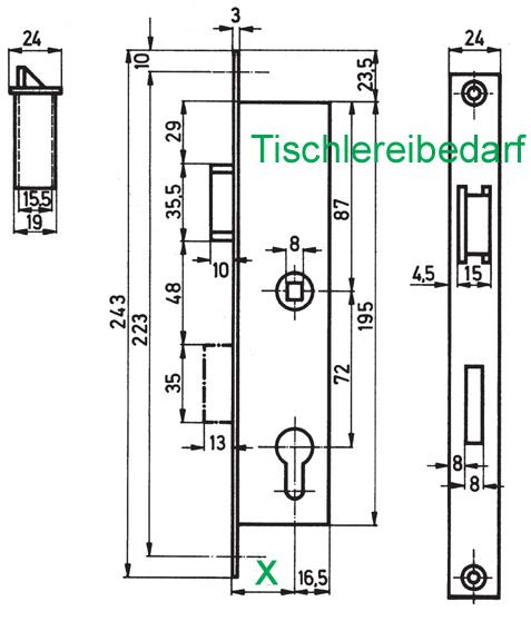 bever rohrrahmenschloss pz 8 72 dornma 35 mm. Black Bedroom Furniture Sets. Home Design Ideas