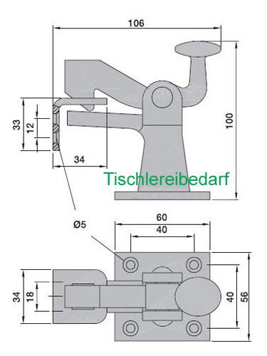 torfeststeller kws f r schwere tore bis 100 kg ebay. Black Bedroom Furniture Sets. Home Design Ideas