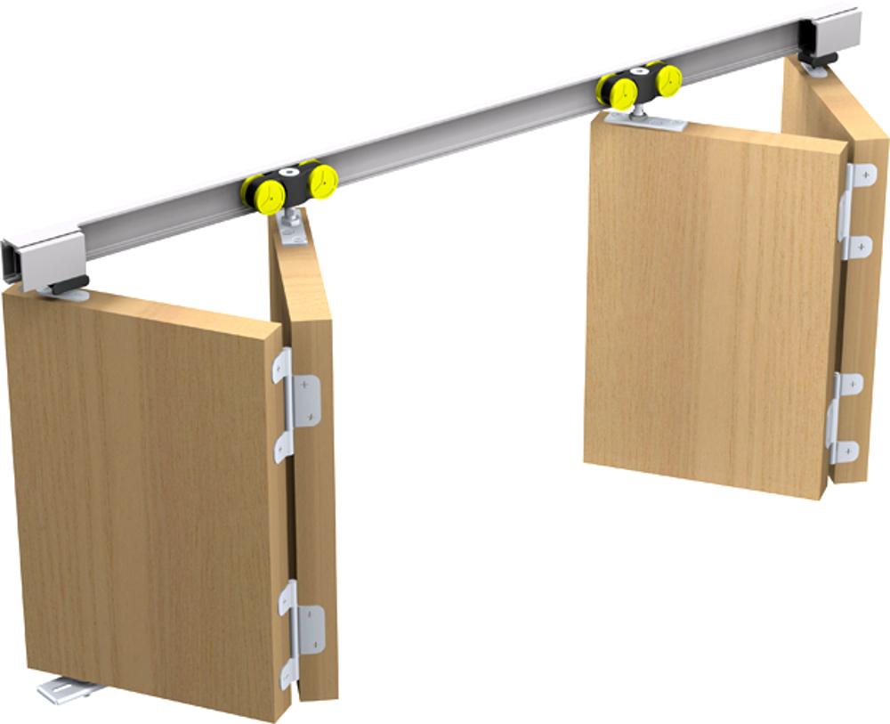 schiebet rbeschlag tango 40 200 f r 2 faltt ren. Black Bedroom Furniture Sets. Home Design Ideas