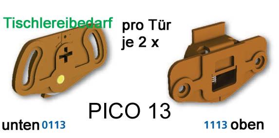 schiebet rbeschlag pico 13b 200cm weiss set f r 2 t ren auf 2 schienen ebay. Black Bedroom Furniture Sets. Home Design Ideas