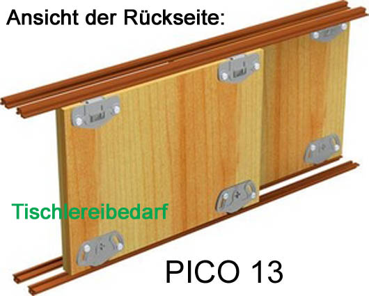 schiebet rbeschlag pico 13b 200cm weiss set f r 2 t ren. Black Bedroom Furniture Sets. Home Design Ideas