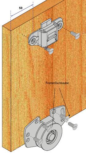 schiebet rbeschlag pico 55m 200cm braun set f r 2 t ren auf 2 schienen ebay. Black Bedroom Furniture Sets. Home Design Ideas