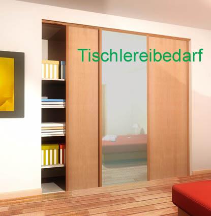 schiebet rbeschlag tubel 28 200 cm f r 3 schrankt ren auf einer doppelschiene ebay. Black Bedroom Furniture Sets. Home Design Ideas
