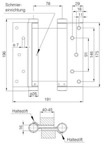 pendelt rband deni edelstahl gr e 39 175 mm bommerband swingband pendelband ebay. Black Bedroom Furniture Sets. Home Design Ideas