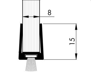 b rstendichtung gdp 8 8 glasdichtung f r 8 mm glas glast rdichtung 1 m ebay. Black Bedroom Furniture Sets. Home Design Ideas