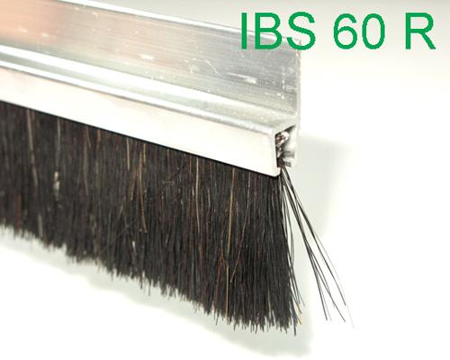 b rstendichtung ibs 60 r aluhalteprofil mit rosshaarb rste t rb rste 1 m. Black Bedroom Furniture Sets. Home Design Ideas