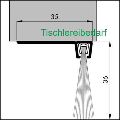 b rstendichtung l 1 5m 13 30 m aluwinkel profil pp b rste ebay. Black Bedroom Furniture Sets. Home Design Ideas