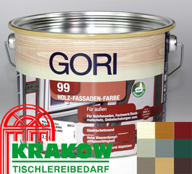 gori 99 holzfassaden farbe 2 5l 15 96 euro l 7117 schwedenrot holzfarbe ebay. Black Bedroom Furniture Sets. Home Design Ideas