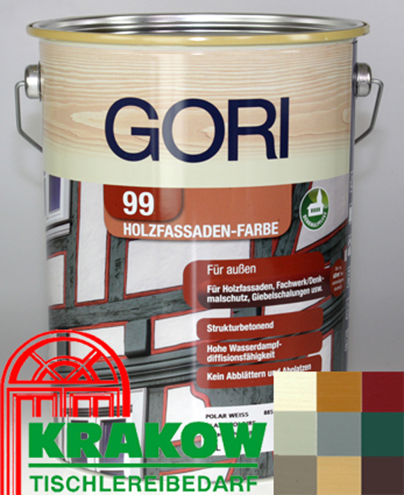 gori 99 holzfassaden farbe 5 l 13 98 euro l 8855 polarweiss holzfarbe ebay. Black Bedroom Furniture Sets. Home Design Ideas