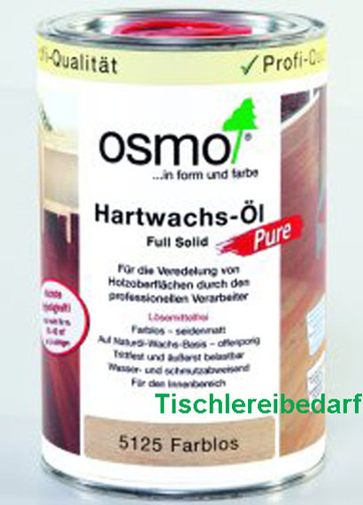 osmo hartwachs l 5125 pure farblos dose 1 liter ebay. Black Bedroom Furniture Sets. Home Design Ideas