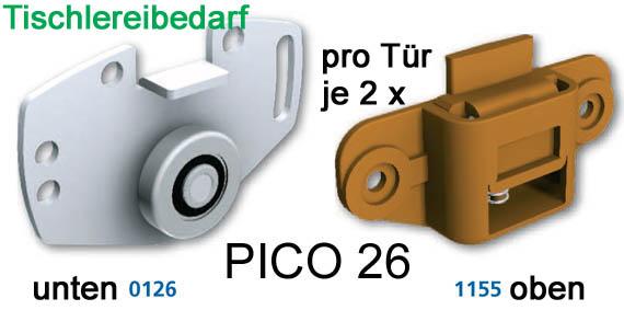 mantion schiebet rbeschlag pico 26b 200cm weiss set f r 2 t ren auf 2 schienen ebay. Black Bedroom Furniture Sets. Home Design Ideas