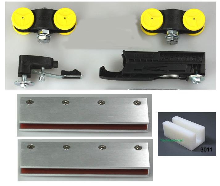 Mantion Wandbefestigungswinkel 11013 für Schiebetürbeschlag SAF 40  = 1 Stück