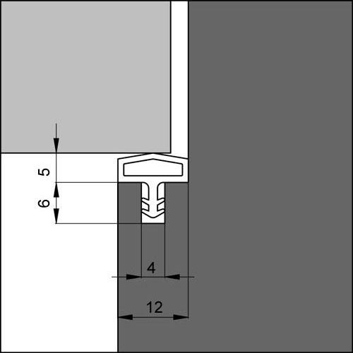 Türdichtung EV 680 schwarz 100 m = 0,59 Euro//m Hausdachdichtung Breite 12 mm